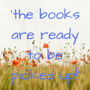 'the books are ready to be picked up!_